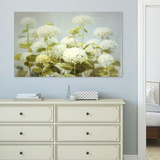 Wexford Home Danhui Nai 'White Hydrangea Garden' Gallery-wrapped Canvas Wall Art