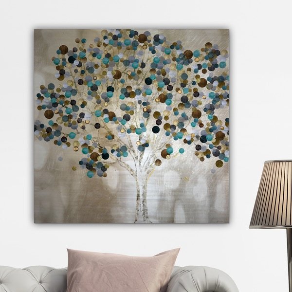 Shop Katrina Craven A Teal Tree Gallery Wrapped Canvas