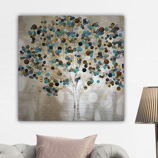 Katrina Craven 'A TEAL TREE' Gallery-wrapped Canvas Wall Art