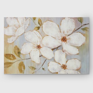 Wexford Home NAN F 'White Blossoms' Gallery-wrapped Canvas Wall Art