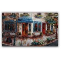 Nan F 'Le Petit Cafe' Canvas Art