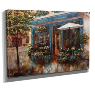 Nan F 'Anna's Corner Flower Shop' Canvas Art