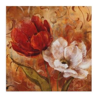 'Flower Duet II' Multicolored Canvas Art