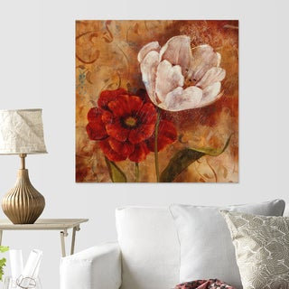 Wexford Home 'Flower Duet I' Giclee-wrapped Canvas Art