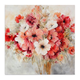 Carol Robinson 'Garden's Passion I' Floral Print on Canvas