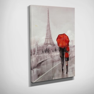 Ruane Manning 'MODERN COUPLE IN PARIS' Hand-embellished Canvas Wall Art