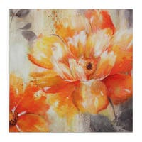 'Orange Crush II' Gallery-wrapped Hand-embellished Canvas Art
