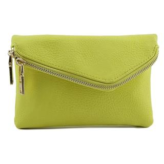 Urban Expressions Women's Lucy Crossbody Yellow Faux Leather Handbag