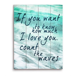 Count the Waves - Seafoam Green Wooden Wall Art