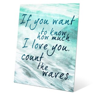 Count the Waves - Seafoam Green Wall Art on Glass