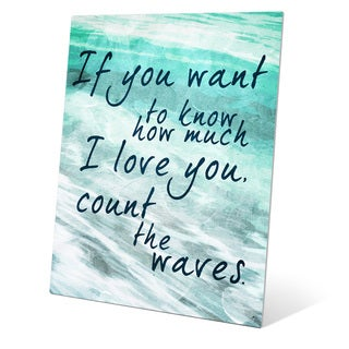 Count the Waves - Seafoam Green Wall Art on Metal