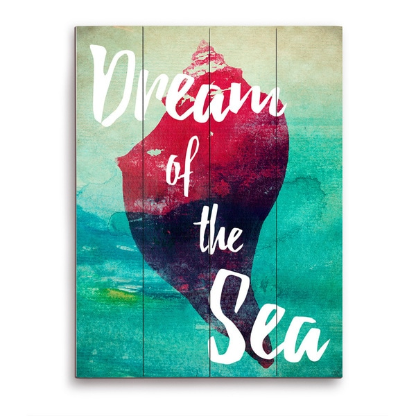 Dream of Sea - Red Wooden Wall Art