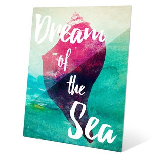 Dream of Sea - Red Wall Art on Glass