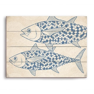 Two Blue Tuna Wooden Wall Art