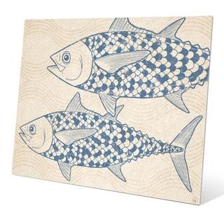 Two Blue Tuna Wall Art on Metal