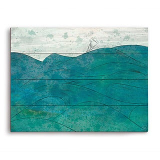 Churning Turquoise Wooden Wall Art