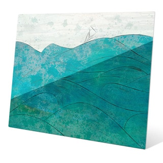 Churning Turquoise Wall Art on Acrylic
