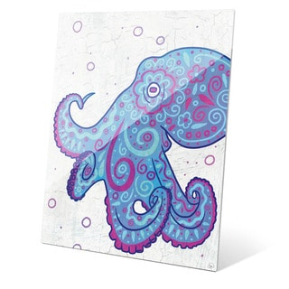 Watercolor Octopus Blue Purple And Teal Wall Art on Acrylic