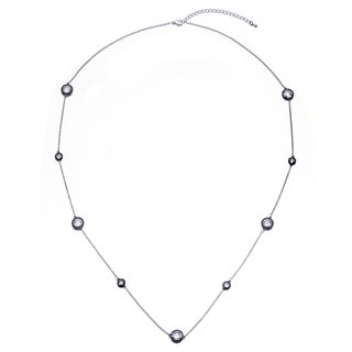 Collete Z Cubic Zirconia Black Long Necklace