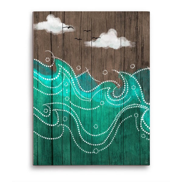 Dark Waters on Wood Wooden Wall Art