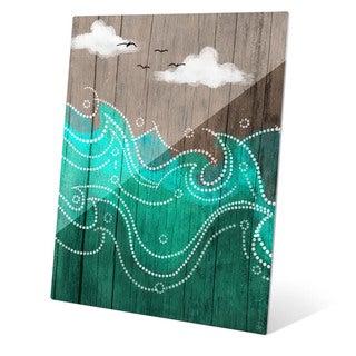 Dark Waters on Wood Wall Art on Glass