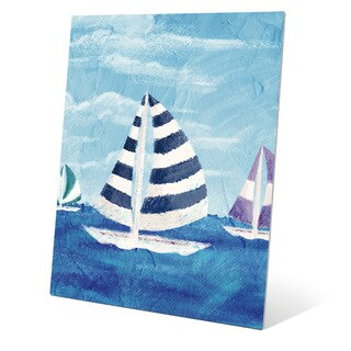 Sailboat Diptych Left Wall Art on Metal