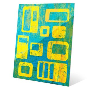 Journalistic Integrity Yellow And Blue Wall Art on Acrylic