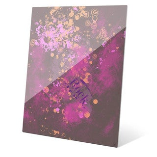 Emotional Knowledge in Pink and Gold Wall Art on Acrylic