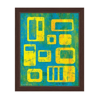 Journalistic Integrity Yellow And Blue Framed Canvas Wall Art