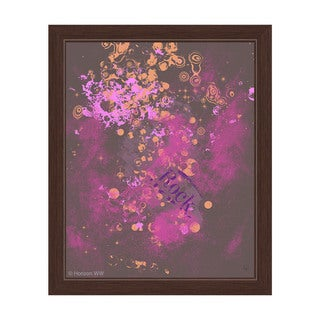 Emotional Knowledge in Pink and Gold Framed Canvas Wall Art