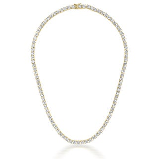 Collete Z Sterling Silver Cubic Zirconia gold plated 4MM Tennis Necklace