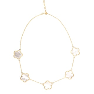 Collete Z Sterling Silver White Pearl Flower Necklace