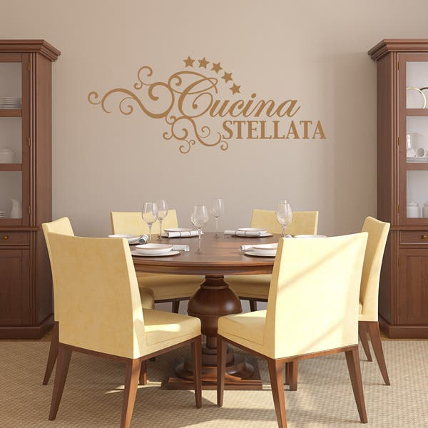 Cucina Stellata Quotes and Sayings Wall Decal Sticker Mural Vinyl Art Home  Decor