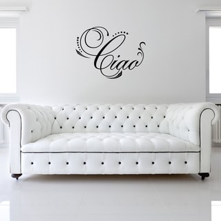 Vinyl 'Ciao' Decorative Wall Decal