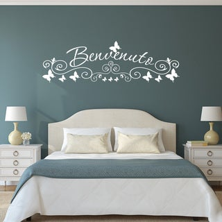 Style & Apply 'Benvenuto' Wall Art Decal