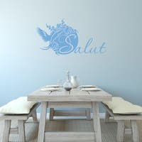 Style & Apply 'Salut' Blue Vinyl Wall Decal
