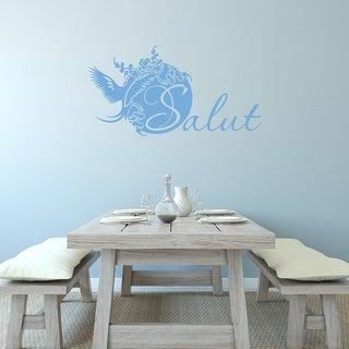 Style & Apply 'Salut' Blue Vinyl Wall Decal
