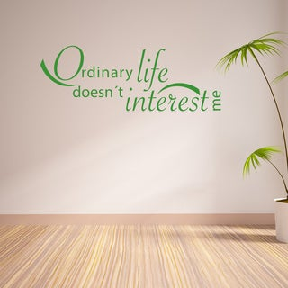 Style & Apply 'Ordinary Life' Vinyl Wall Decal