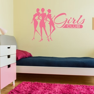 Girls Club Wall Decal Sticker Mural Vinyl Art Home Decor