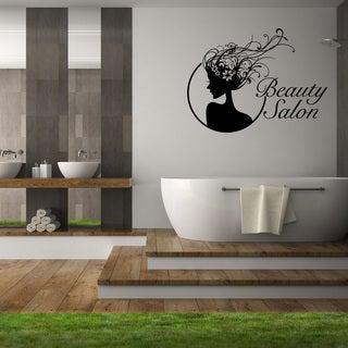 'Beauty Salon' Black Vinyl Wall Decor (More options available)