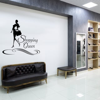 'Shopping Queen' Solid-colored Vinyl Wall Decor