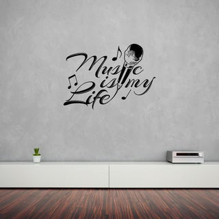 Style & Apply 'Music is my Life' Wall Decal Home Decor