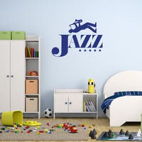 Style & Apply 'Jazz' Blue Vinyl Wall Decal Sticker