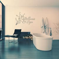 Vinyl 'Wellness & Spa' Wall Decal