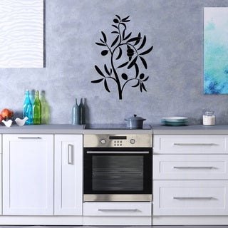 Style & Apply Olive Branch Vinyl Wall Decal Home Decor