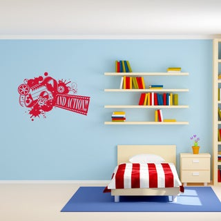 And Action... Wall Decal, Sticker, Mural Vinyl Art Home Decor