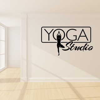 'Yoga Studio' Vinyl Wall Decal
