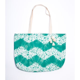 Fields of Green Shibori Tote (India)