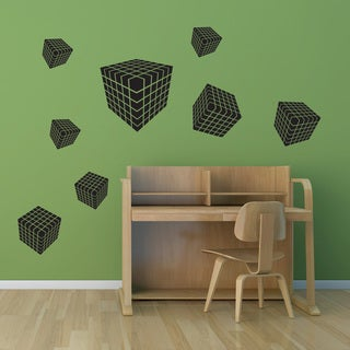 Style & Apply 3D Dice Black Vinyl Wall Decal
