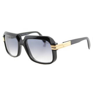 Cazal Cazal 607 001SG Vintage Black Plastic Square Grey Gradient Lens Sunglasses